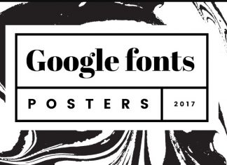 Google Fonts Posters