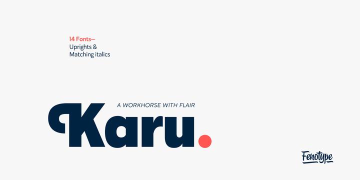 Karu Font Family