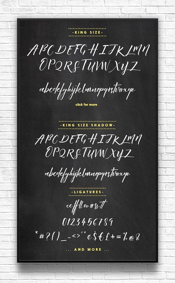 King Size Script Font
