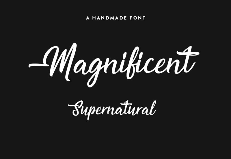 magnificent supernatural font