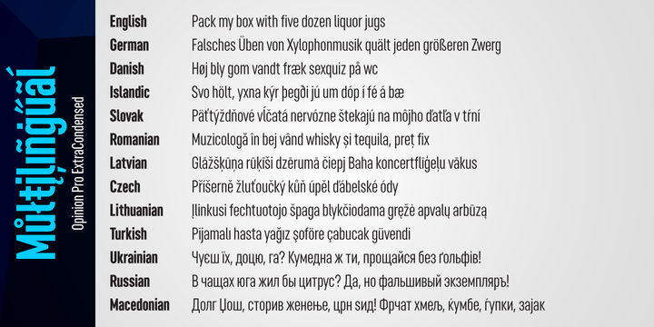 Opinion Pro Font Family