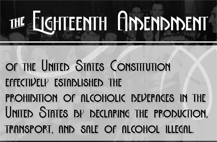 The Eighteenth Amendment Font