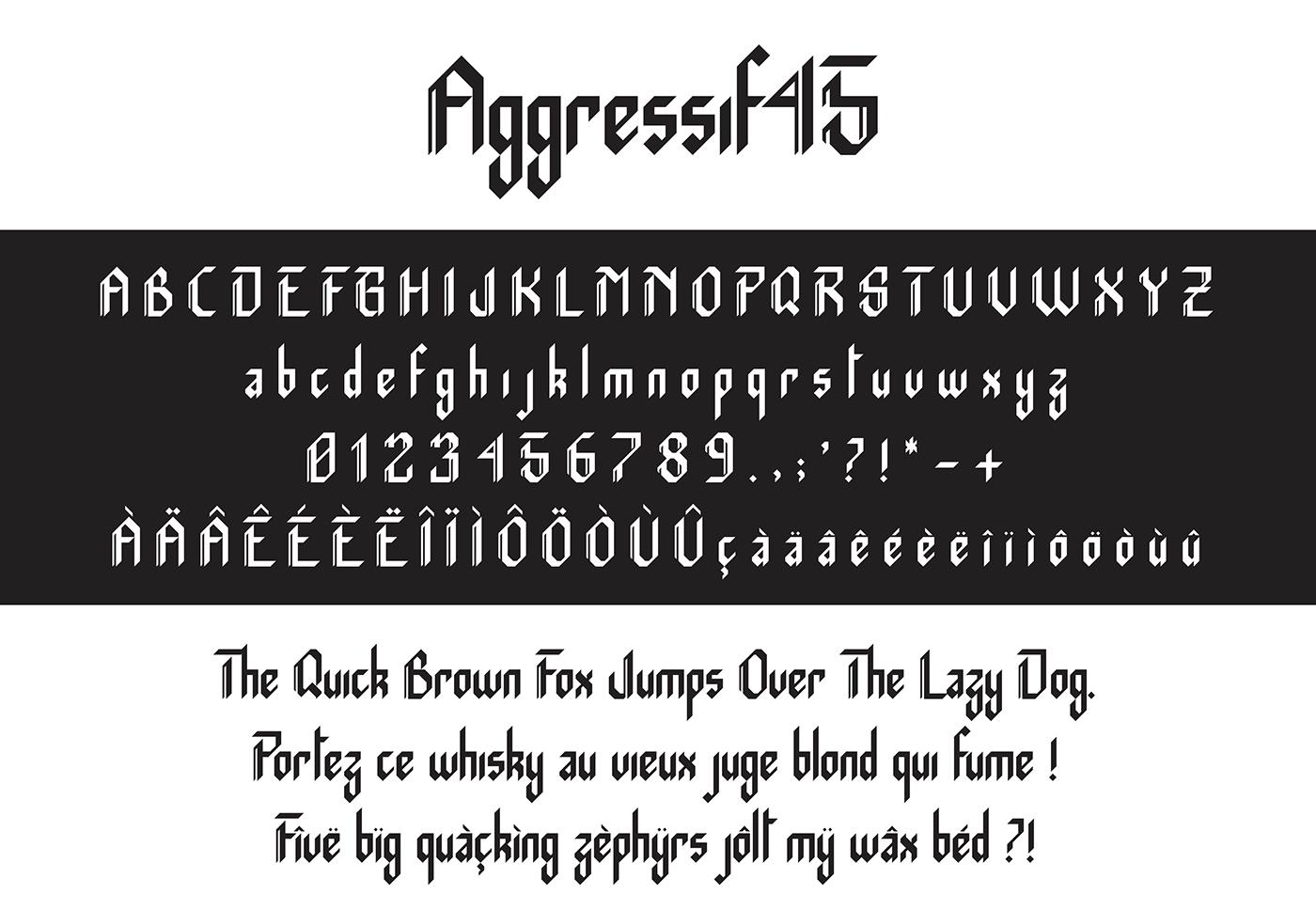 Aggressif 45 Typeface