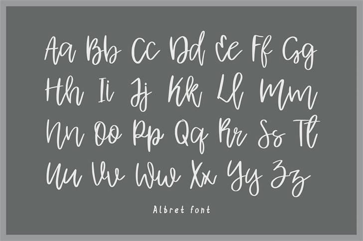 Albret Handwritten Font