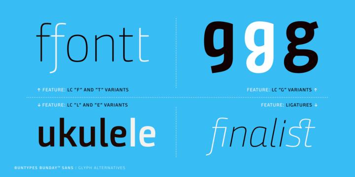 Bunday Sans Font Family