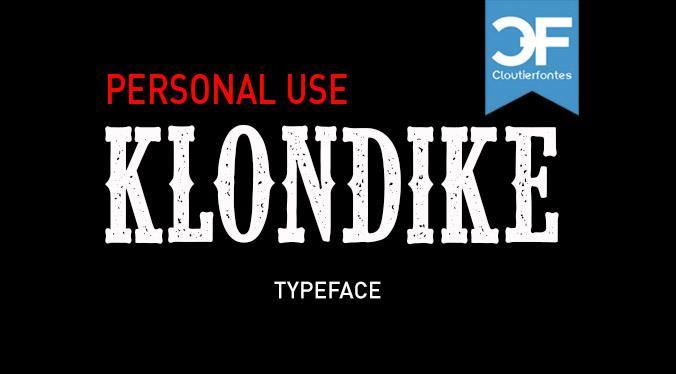 CF Klondike Typeface