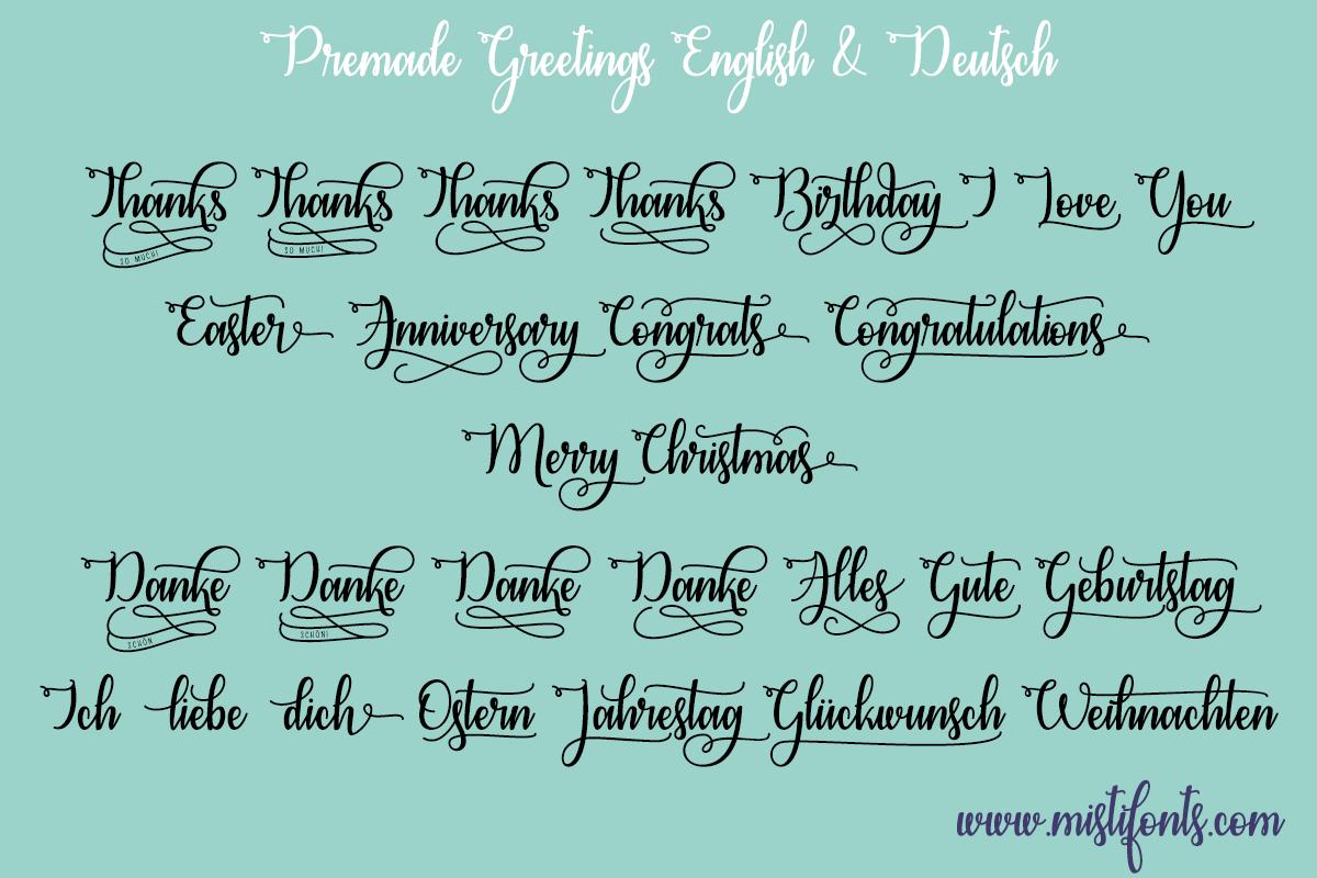 Congrats Calligraphy Font
