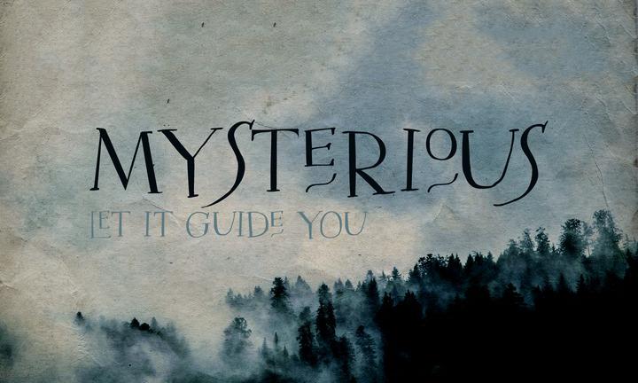Mysterious Typeface Befonts Com