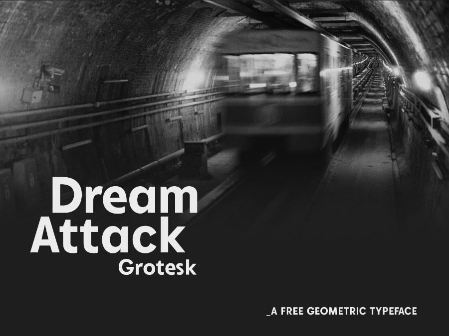Dream Attack Grotesk Font