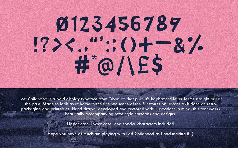 Lost Childhood Font