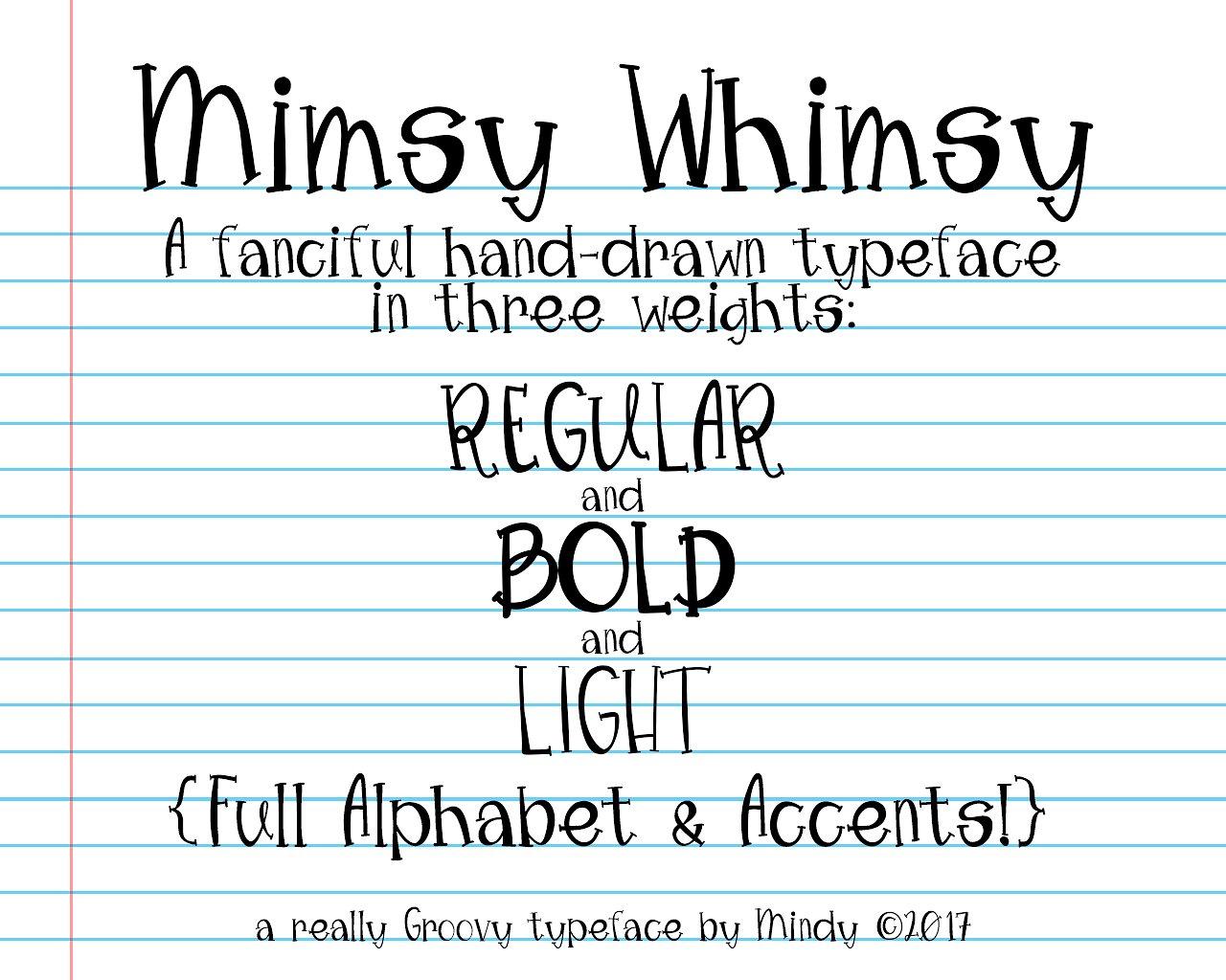 Mimsy Whimsy Typeface