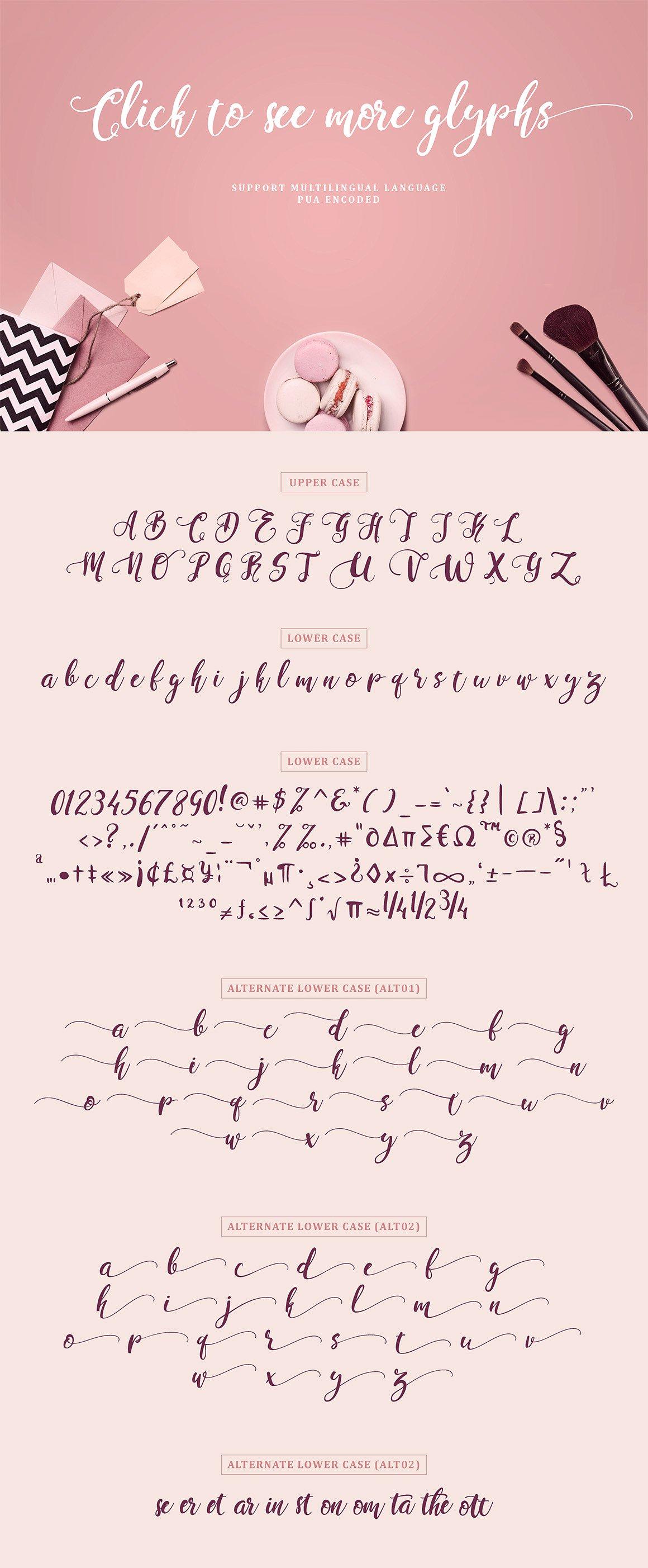 Perfume classic script font