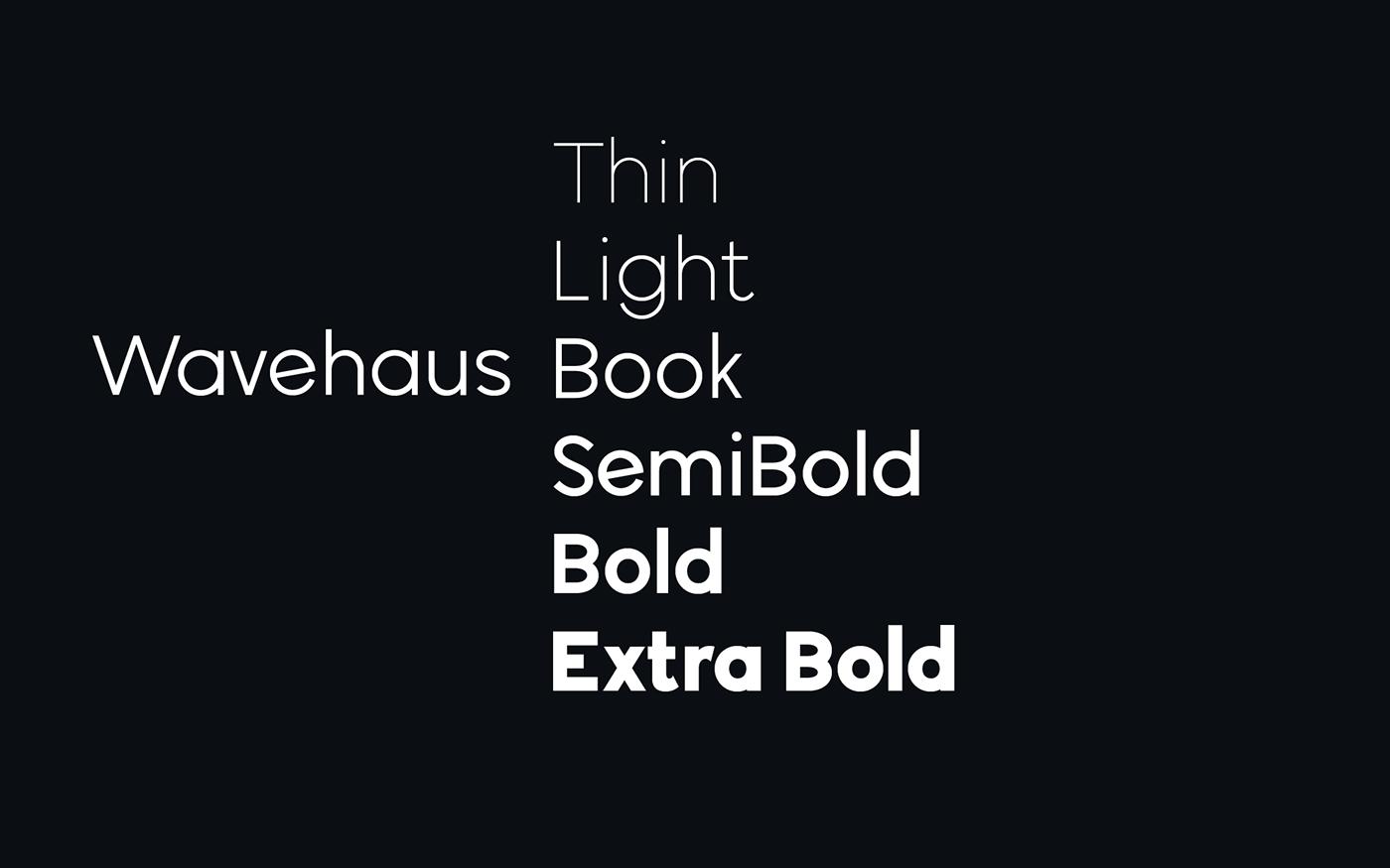 Wavehaus Font Family