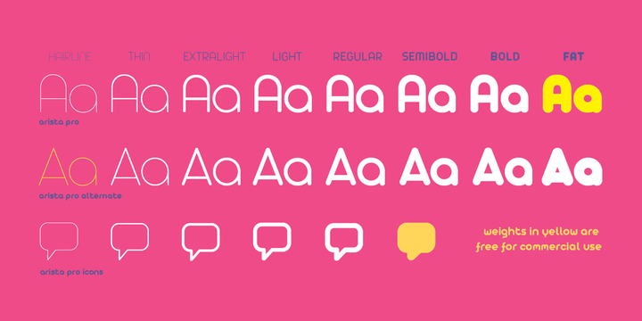 Arista Pro Font Family