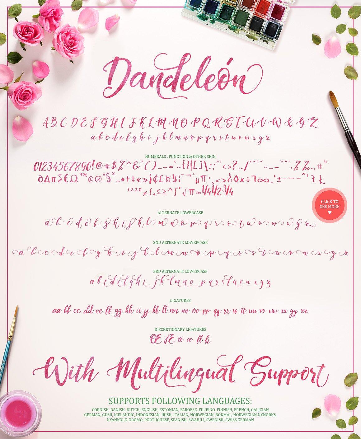 Dandeleon Brush Script Font