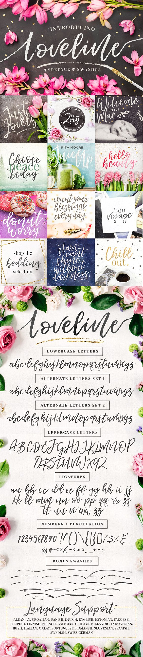 Loveline Brush Font