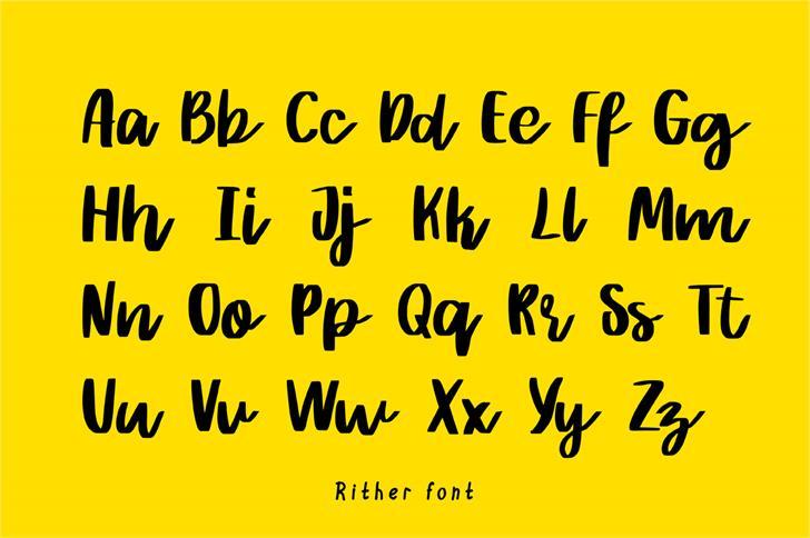 Rither Script Font