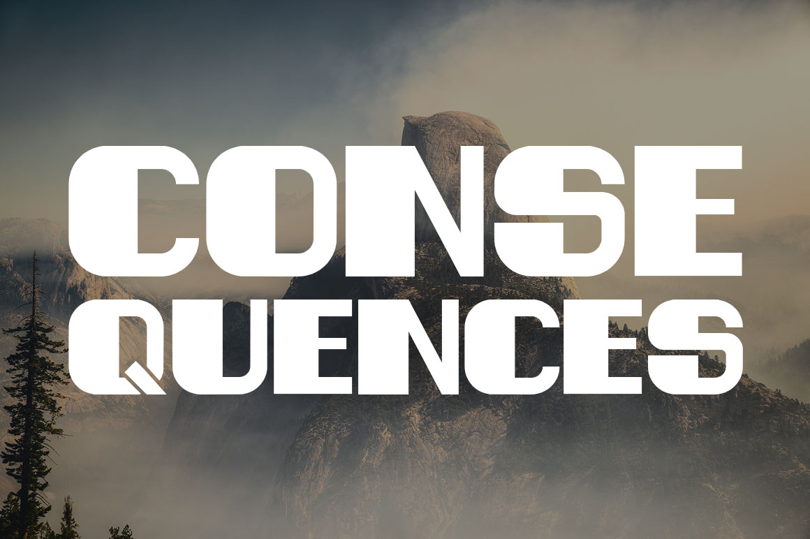 consequences typeface