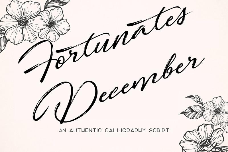 Fortunates December Font - Befonts com