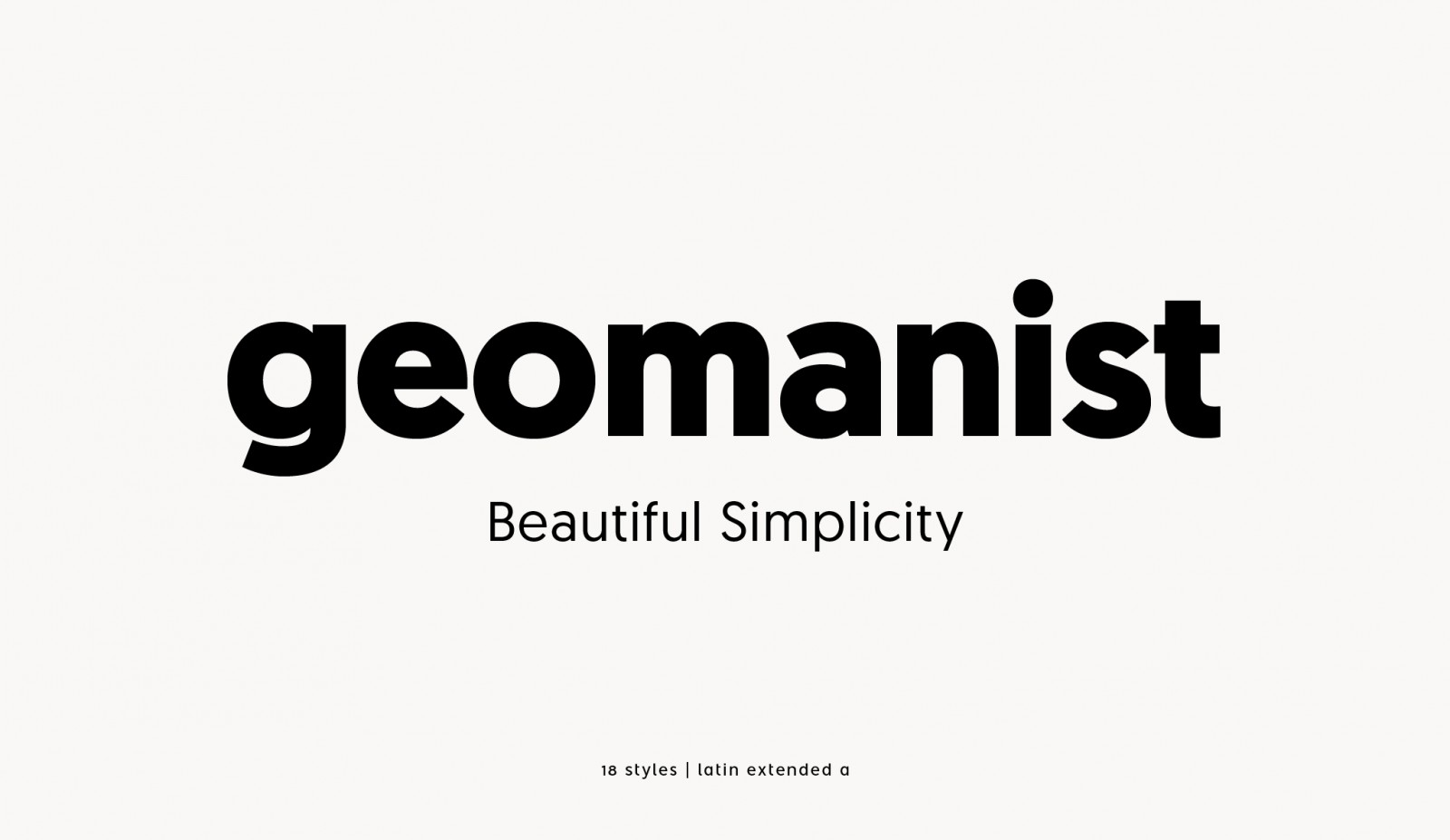 Geomanist Font Family - Befonts com