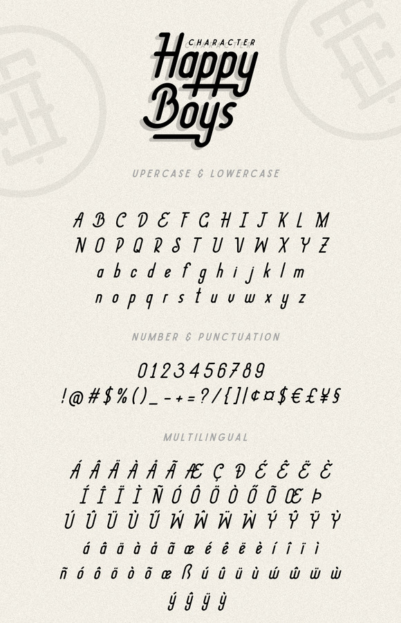 Happy Boys Typeface