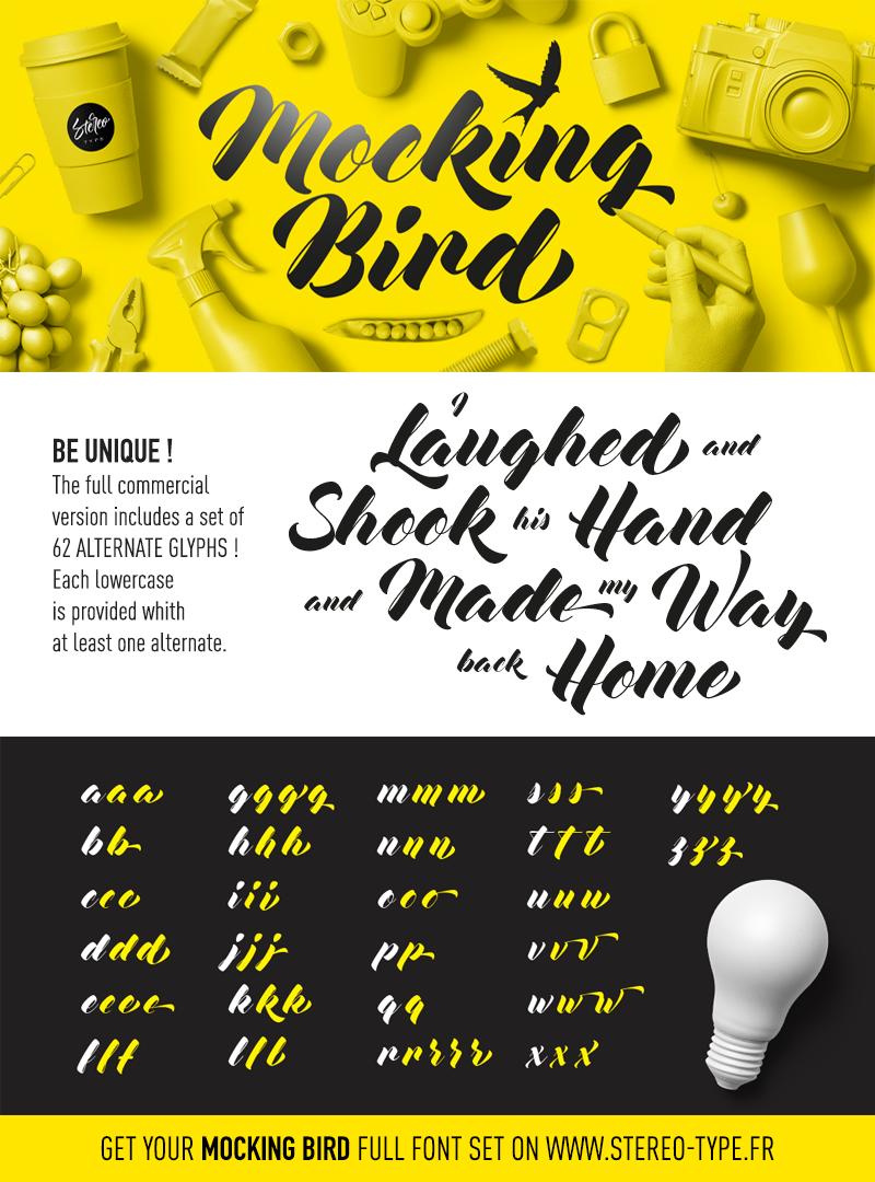 Mocking Bird Font