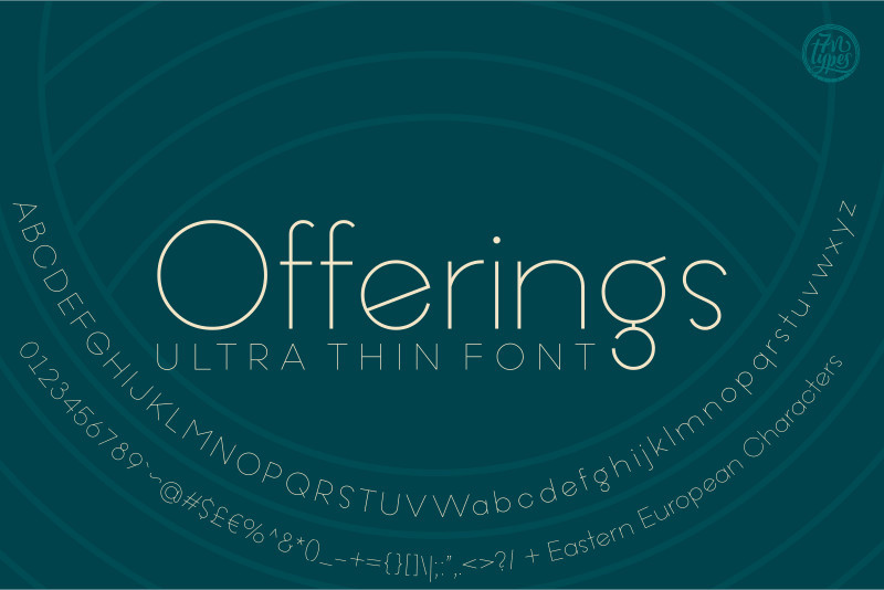 Offering Ultra Thin Font - Befonts com