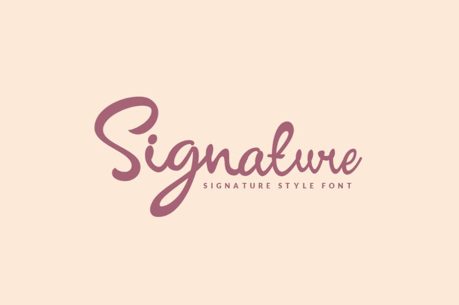 signature script font
