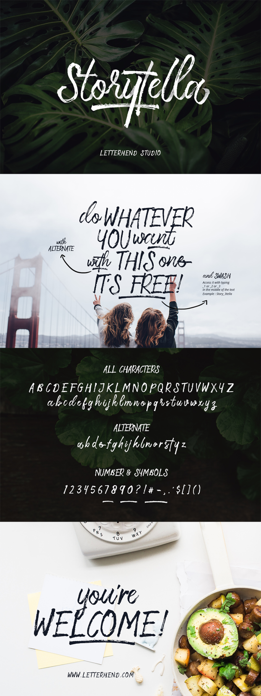 Storytella Brush Font