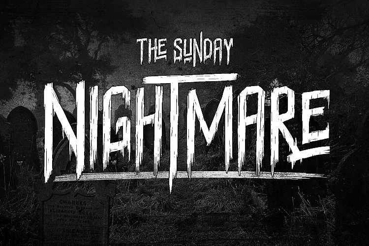 sunday nightmare typeface befonts com