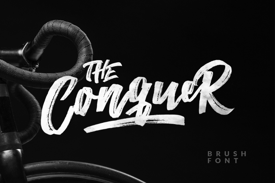 The conquer brush font befonts