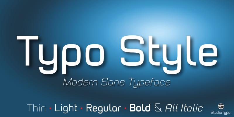 Typo Style Font Family