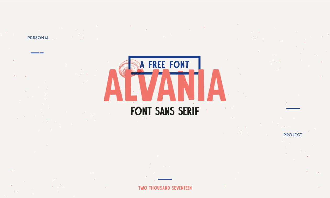 Alvania Typeface