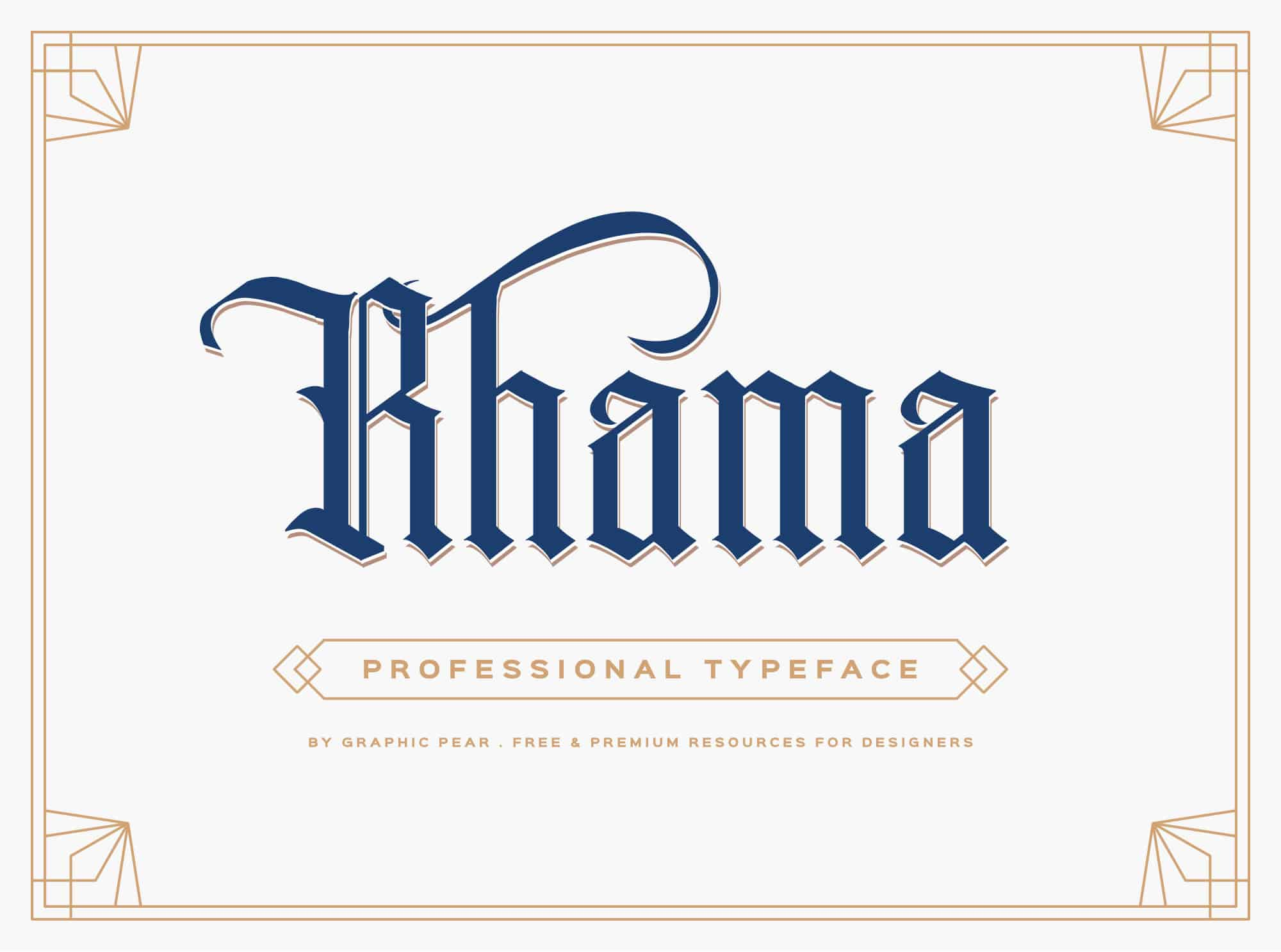 template gothic font free - rhama typeface