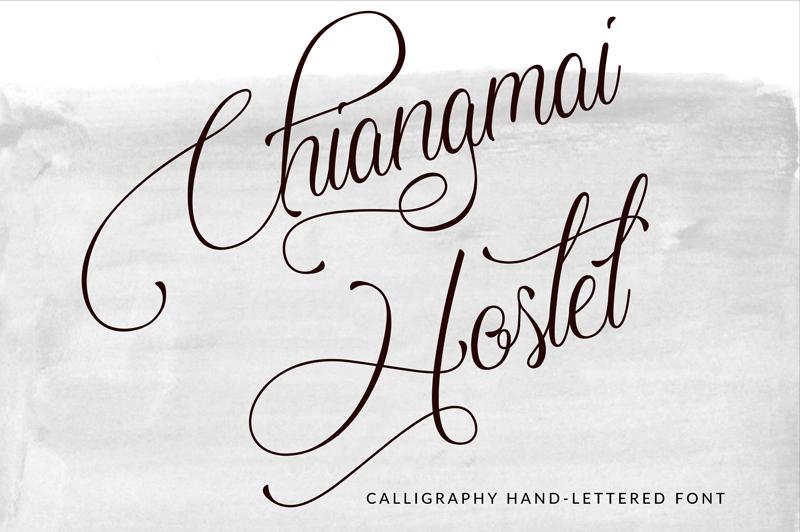 Chiangmai hostel font befonts