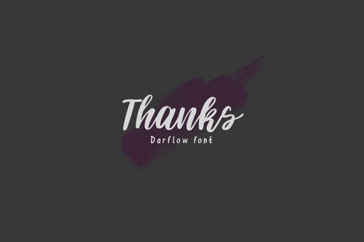 Darflow Handwritten Font