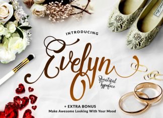 Evelyn font family befonts download free fonts