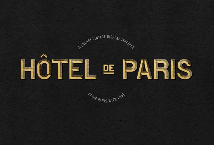 chalet paris 1970 font free download