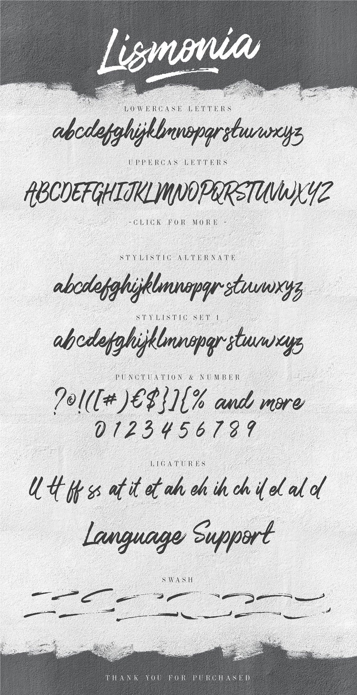 Lismonia Brush Font