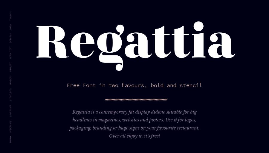 Regattia Typeface