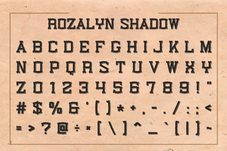 Rozalyn Shadow Typeface