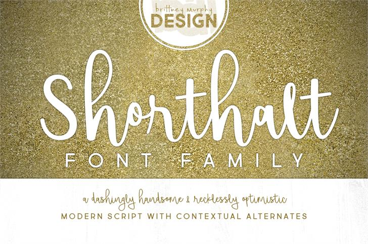 Shorthalt Script Font