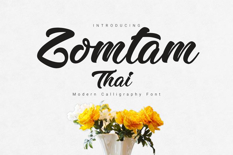 Zomtam thai script font befonts