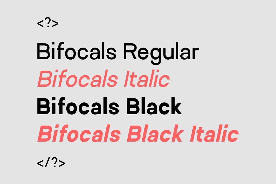 Bifocals Font Family