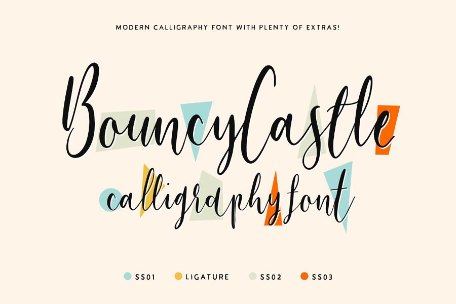 Bouncy castle font family befonts