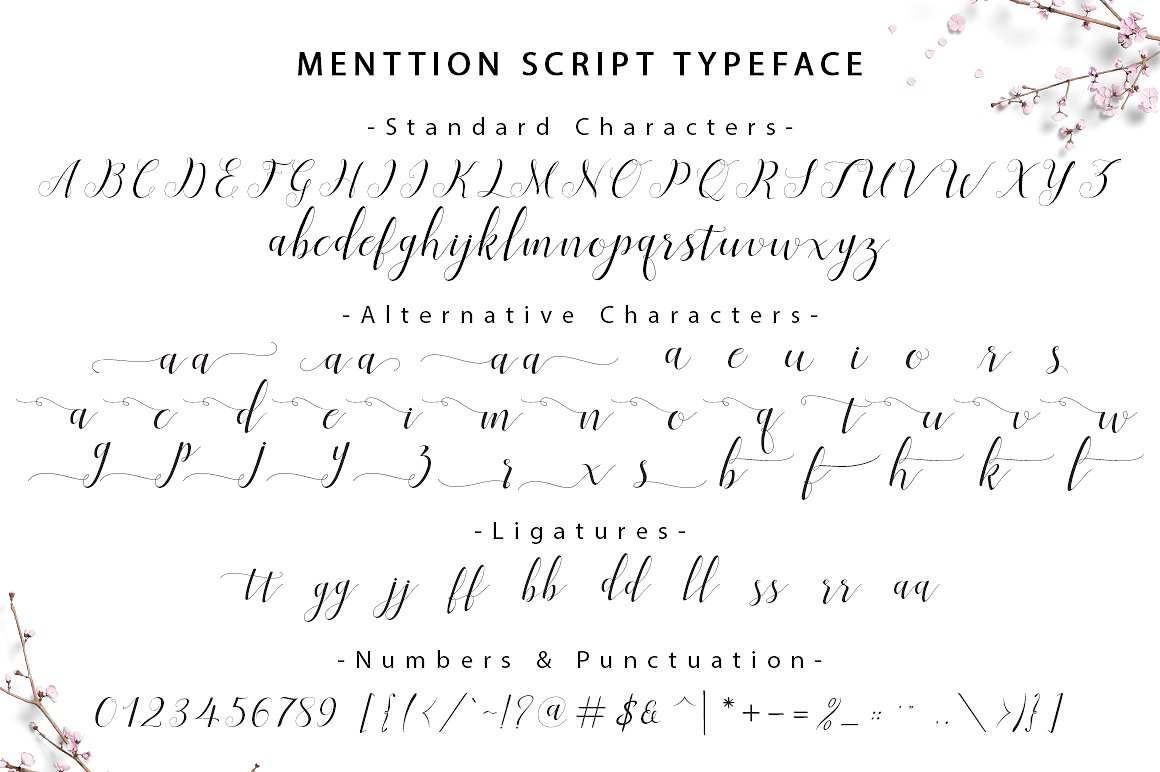 Menttion Script Font