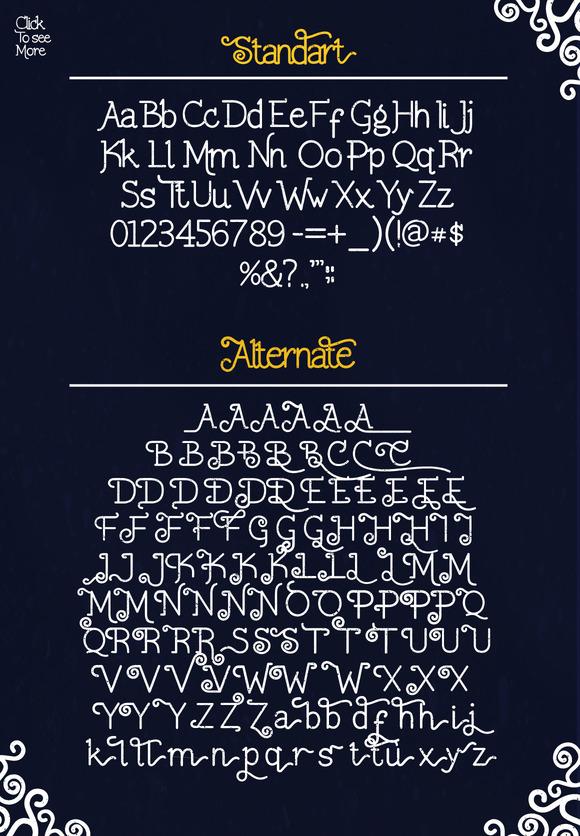 Solecha Rough Typeface