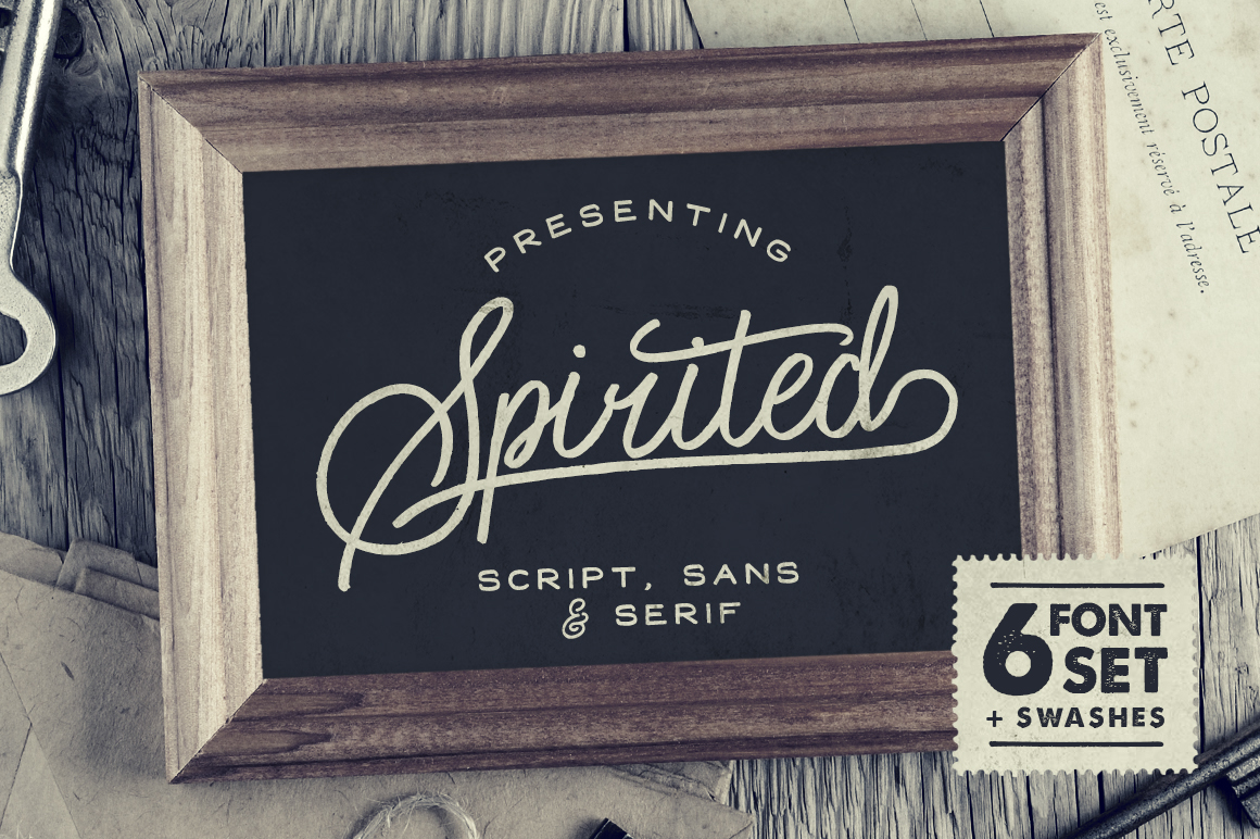 Spirited font family befonts