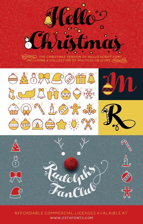 Hello Christmas Script Font