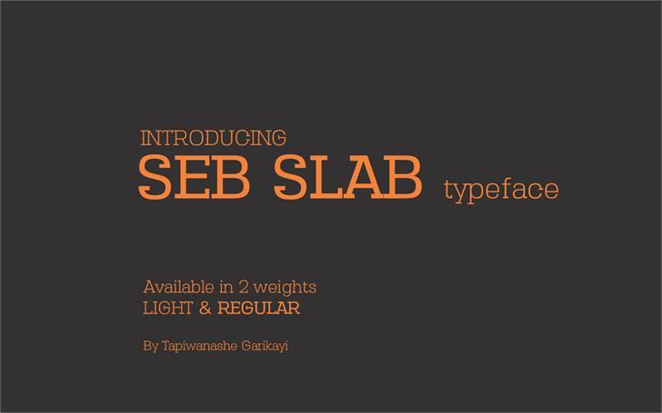 Seb Slab Typeface